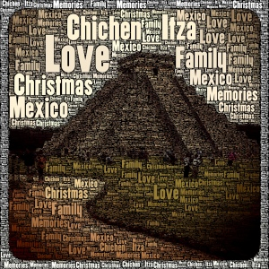 my photo of Chichen Itza with a treatment by the app WordFoto